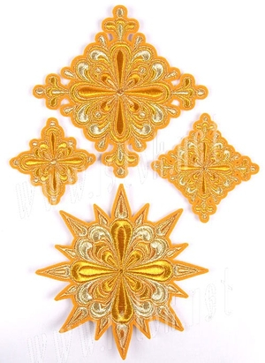 Gorodets cross vestment set