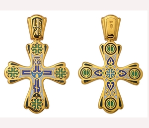 Baptismal cross: Golgotha Cross with pendant - 2