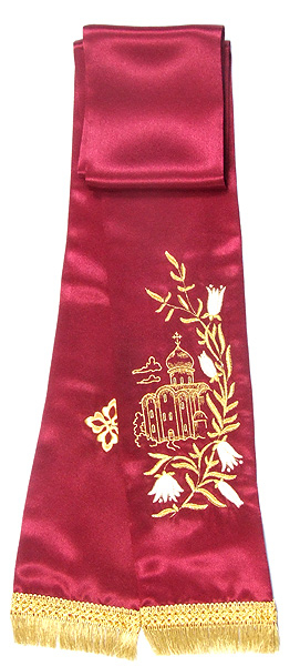 Embroidered Temple bookmark