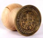 Russian Orthodox prosphora seal no.127 (Diameter: 2.0'' (50 mm))
