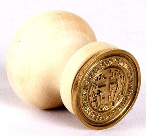 Russian Orthodox prosphora seal no.209 (Diameter: 1.5'' (38 mm))