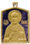 Baptismal medallion: St. Nicholas the Wonderworker - 1