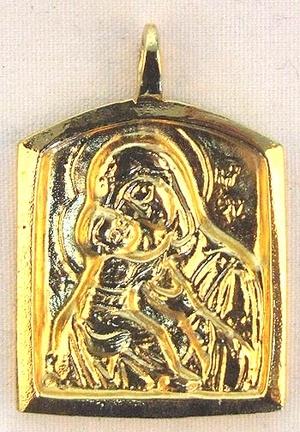 Baptismal medallion: Theotokos of Vladimir - 9
