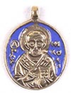 Baptismal medallion: St. Nicholas the Wonderworker - 2