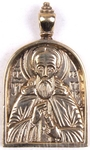 Baptismal medallion: St. Sergius of Radonezh