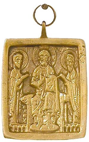 Baptismal medallion: Deisis