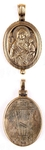 Baptismal medallion: Theotokos of Iveron