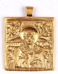 Baptismal medallion: St. Nicholas the Wonderworker
