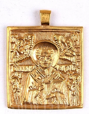 Baptismal medallion: St. Nicholas the Wonderworker - 3