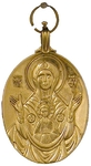Baptismal medallion: Theotokos of the Sign