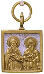 Baptismal medallion: Stt. Cyril and Methodius