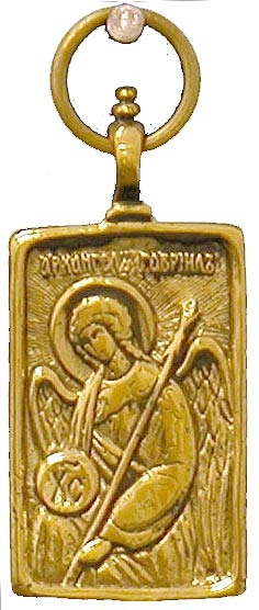 solid yellow gold medal baptism medallion necklace