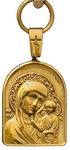 Baptismal medallion: Theotokos of Kazan' - 19