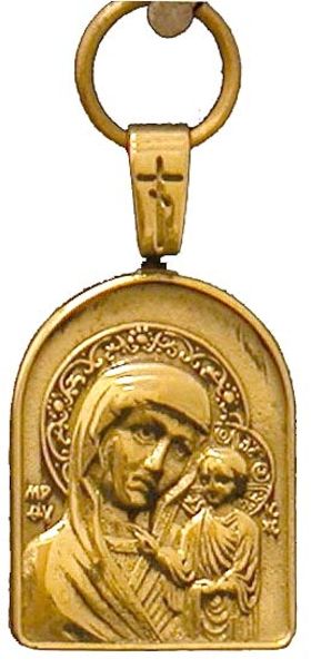 Baptismal medallion: Theotokos of Kazan'