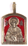 Baptismal medallion: Holy Great Martyr and Healer Pantheleimon