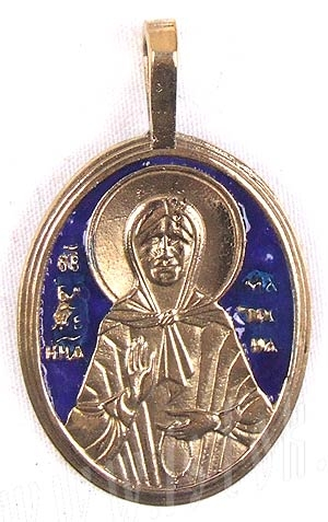 Baptismal medallion: Holy Blessed Matrona of Moscow