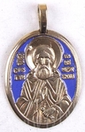 Baptismal medallion: Holy Venerable Sergius of Radonezh