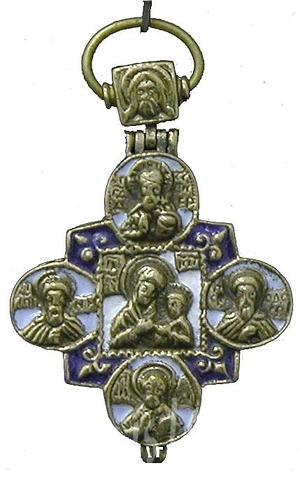 Baptismal reliquary cross no.0-54