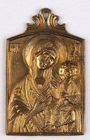 Baptismal medallion: no.110