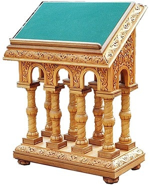 Church lecterns: Double carved lectern-2