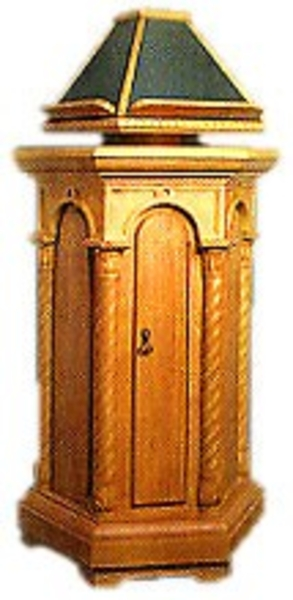 Church lecterns: Round kliros lectern