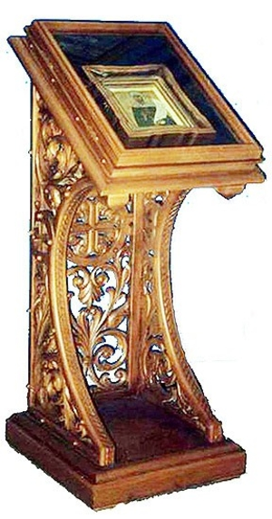 Church lecterns: S-type carved lectern