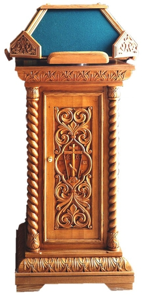 Church lecterns: 4-side kliros carved lectern