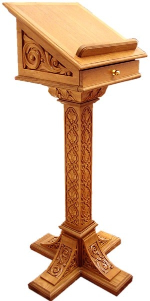 Church lecterns: Roussik carved lectern