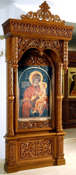 Church kiots: St. Nicholas carved icon case (kiot)