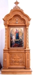 Church kiots: Pokrov carved icon case (kiot) - 4