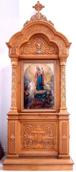 Church kiots: Pokrov carved icon case (kiot) - 4