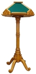 Church lecterns: Round light kliros carved lectern