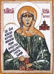 Embroidered icon - Blessed Xenia of St. Petersburg