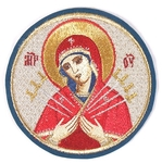 Embroidered icon of the Most Holy Theotokos The Seven Arrows