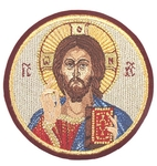 Embroidered icon - Christ the Panthocrator