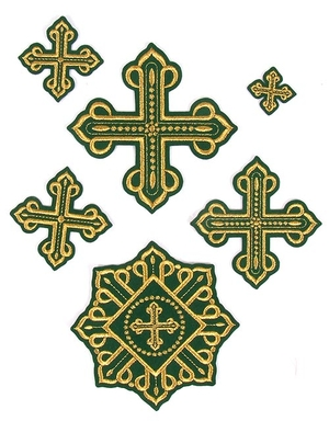 Rovno cross vestment set