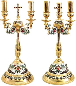 Bishop's dikirion-trikirion set no.15