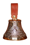 Souvenir bells: Bell with icon Protection of the Most Holy Theotokos
