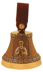 Souvenir bells: Bell with icon of St. Sergius of Radonezh
