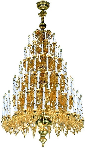 Five-level church chandelier - 1 (79 lights)