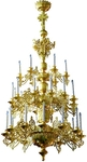 Three-level church chandelier - 3 (30 lights)