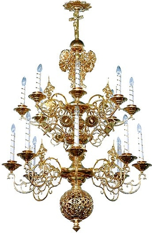 Two-level church chandelier - 4 (16 lights)