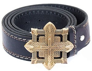 Men's belt - Sword cross