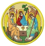Embroidered icon - Holy Trinity