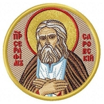 Embroidered icon - Venerable Seraphim of Sarov