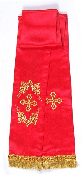 Greek Vine embroidered bookmark