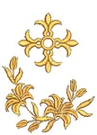 Greek Lily embroidered bookmark