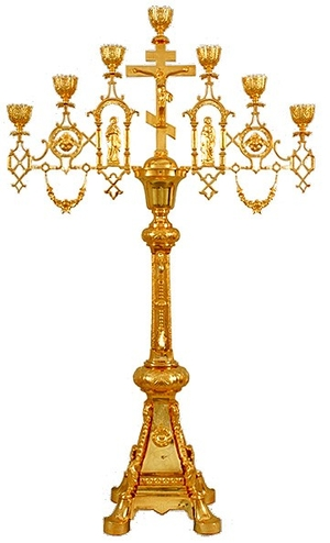 Seven-branch altar stand (candelabrum) no.6