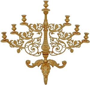 Seven-branch altar stand (candelabrum) - 16