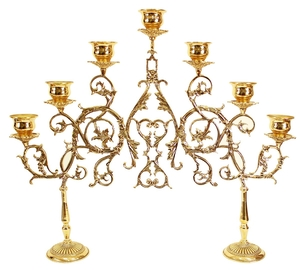 Seven-branch table 2-leg candelabrum (large)